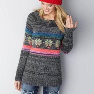 Aeo fair isle sweater size small